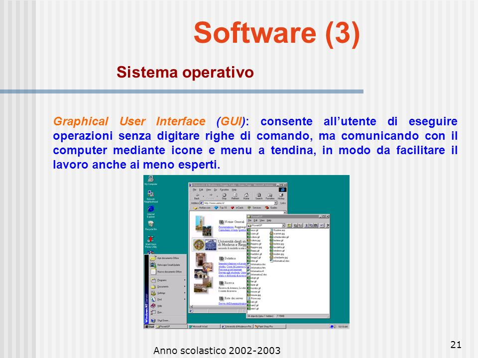 Software (3) Sistema operativo