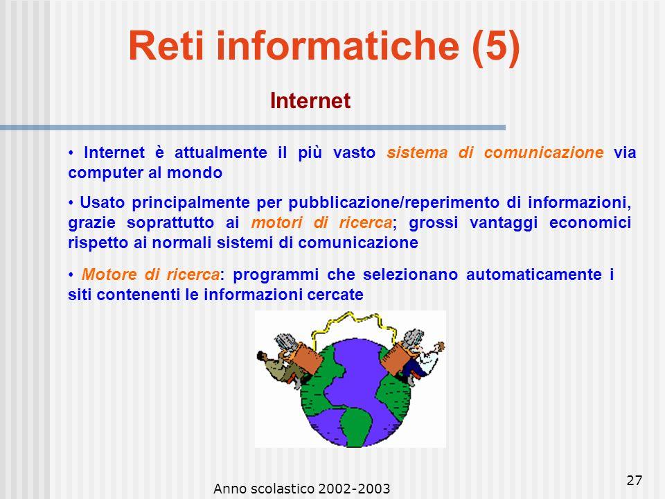 Reti informatiche (5) Internet