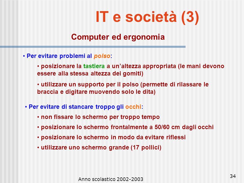 IT e società (3) Computer ed ergonomia