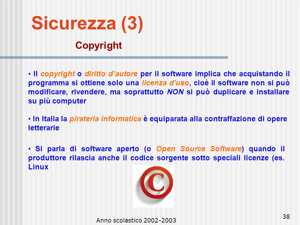 Sicurezza (3) Copyright