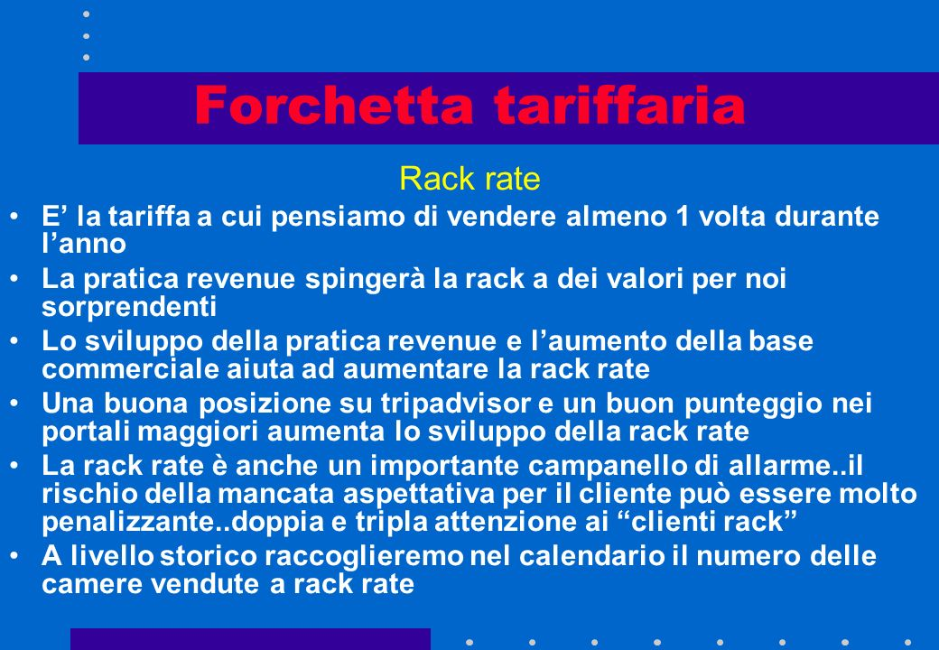 Forchetta tariffaria Rack rate