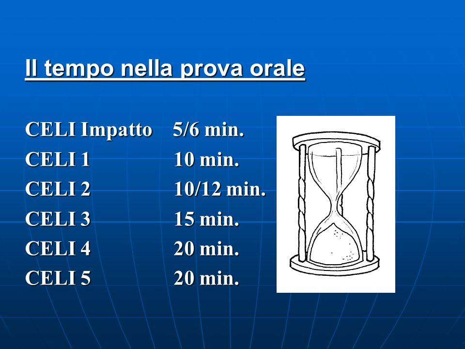 Il tempo nella prova orale