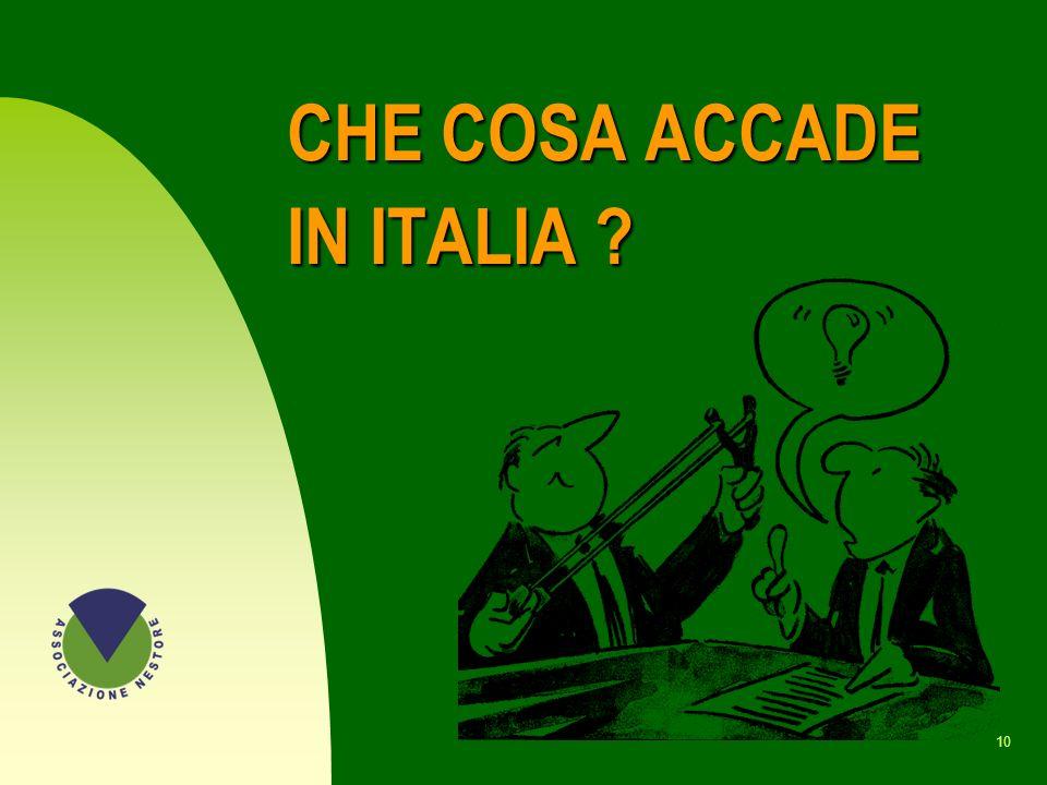CHE COSA ACCADE IN ITALIA