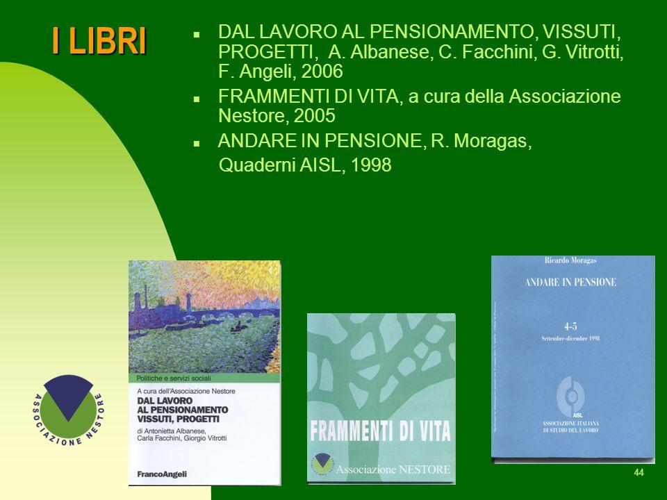 I LIBRI DAL LAVORO AL PENSIONAMENTO, VISSUTI, PROGETTI, A. Albanese, C. Facchini, G. Vitrotti, F. Angeli, 2006.