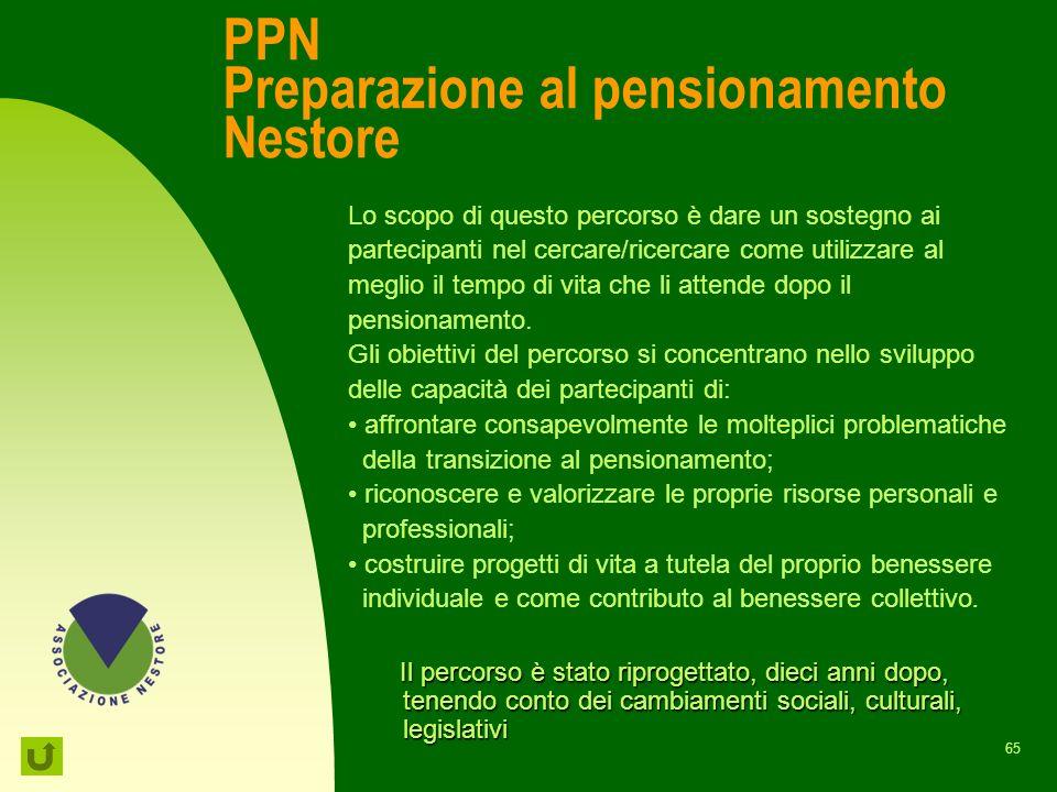 PPN Preparazione al pensionamento Nestore