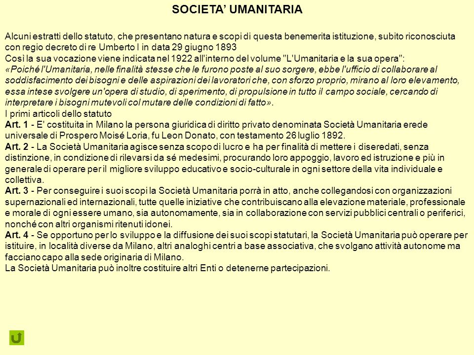 SOCIETA' UMANITARIA