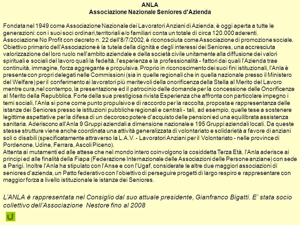 Associazione Nazionale Seniores d Azienda