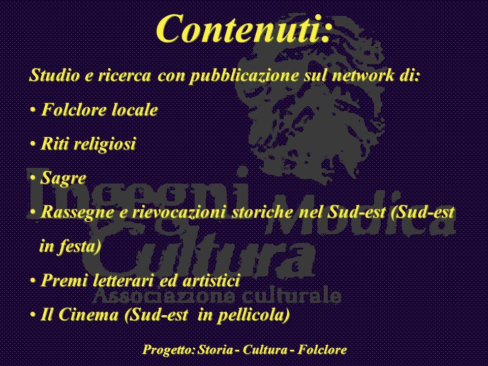 Progetto: Storia - Cultura - Folclore