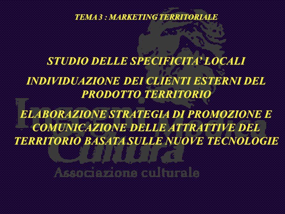 STUDIO DELLE SPECIFICITA' LOCALI