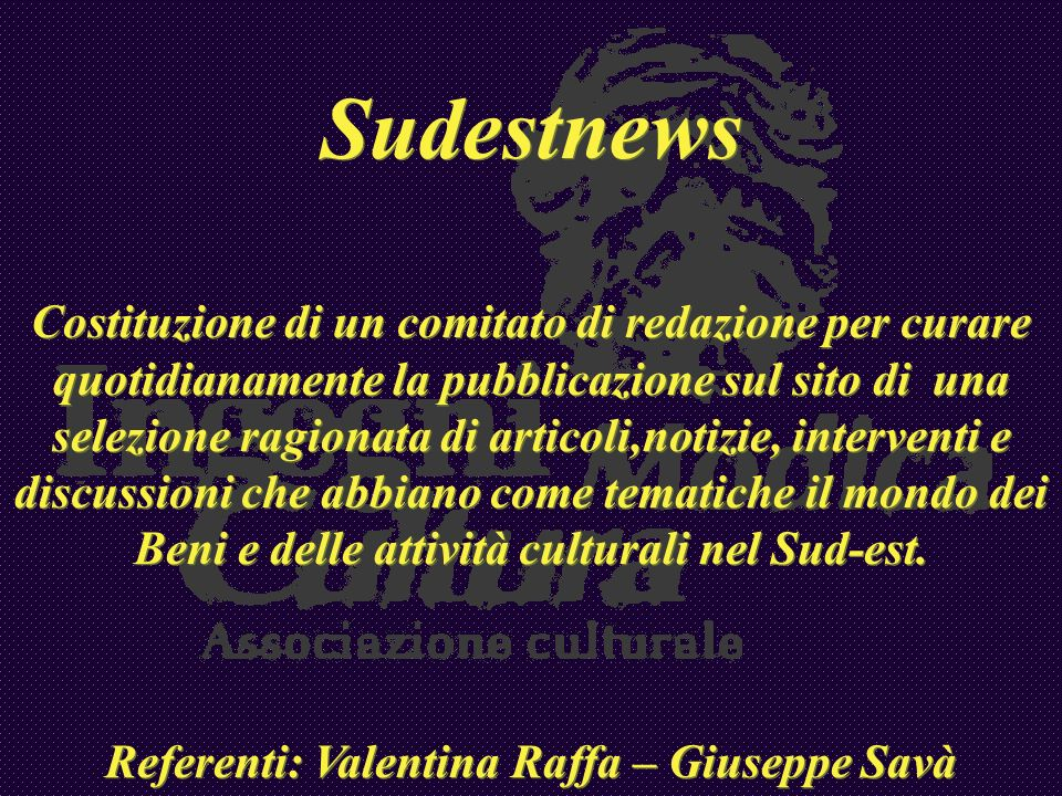 Referenti: Valentina Raffa – Giuseppe Savà