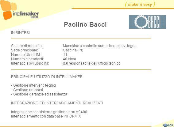 Paolino Bacci IN SINTESI ____________________________________________________________________.