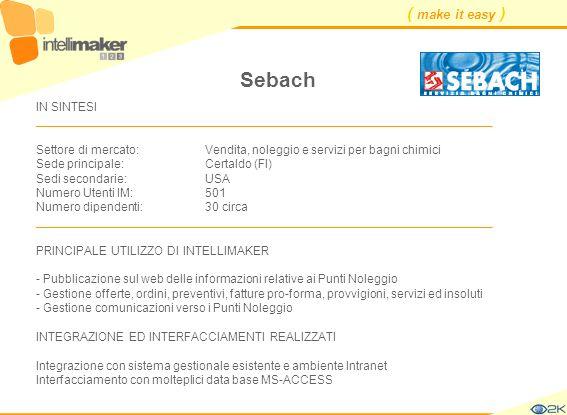 Sebach IN SINTESI ____________________________________________________________________.