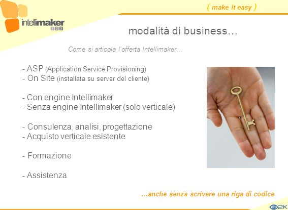 modalità di business… - ASP (Application Service Provisioning)