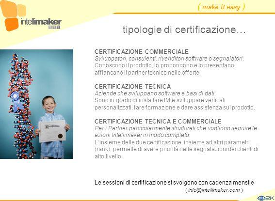 tipologie di certificazione…