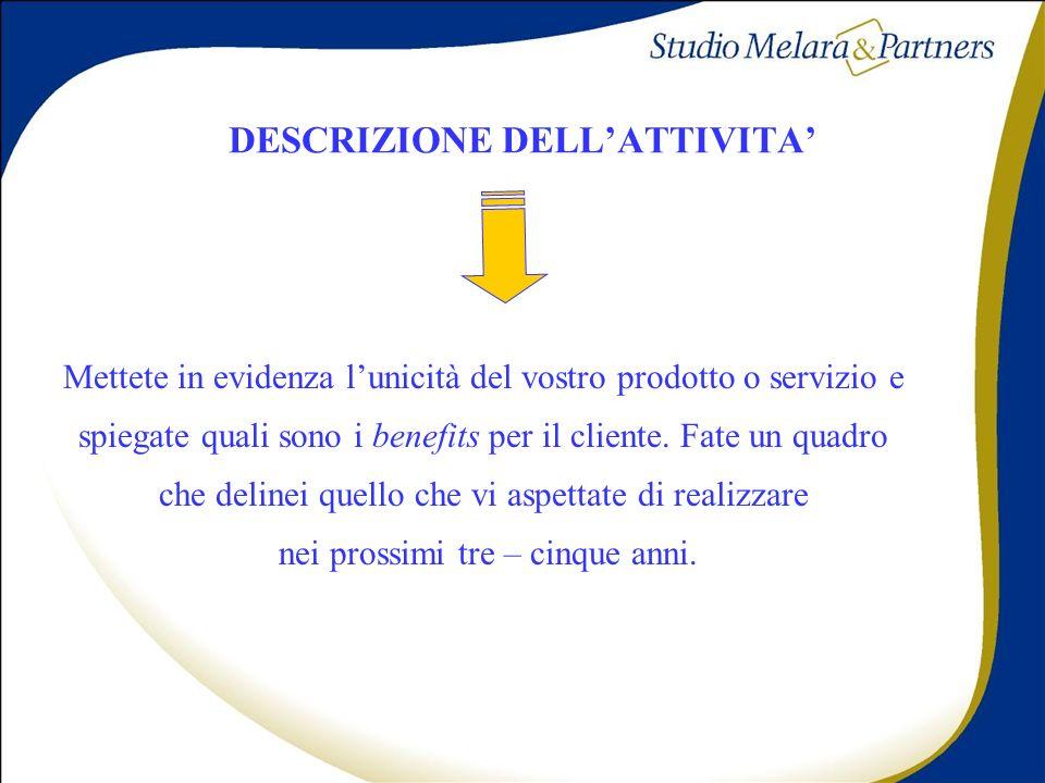 DESCRIZIONE DELL'ATTIVITA'