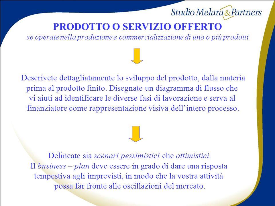 PRODOTTO O SERVIZIO OFFERTO se operate nella produzione e commercializzazione di uno o più prodotti