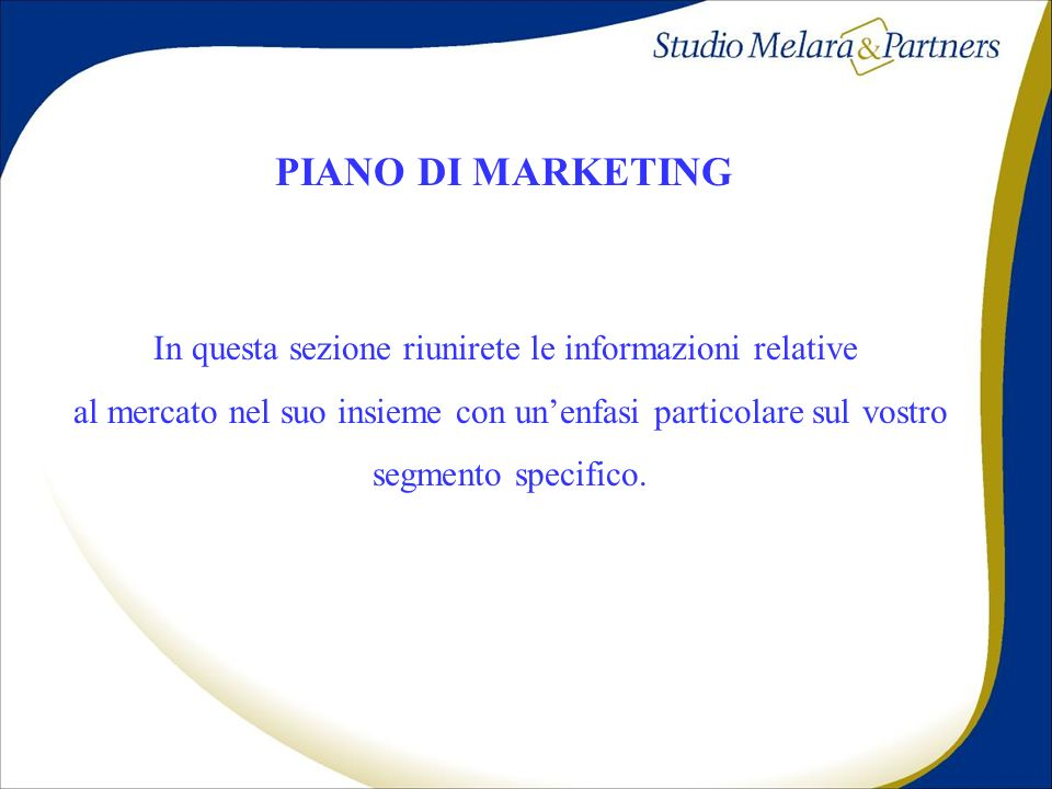PIANO DI MARKETING PIANO DI MARKETING