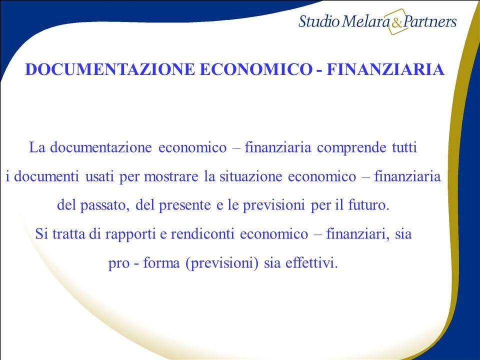 DOCUMENTAZIONE ECONOMICO - FINANZIARIA