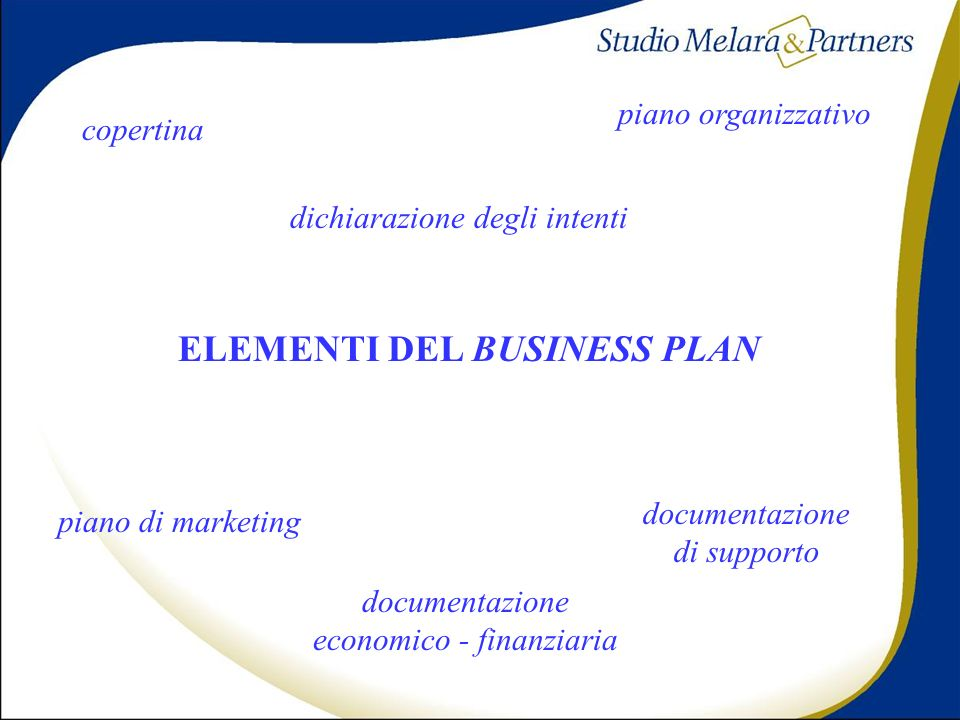 ELEMENTI DEL BUSINESS PLAN