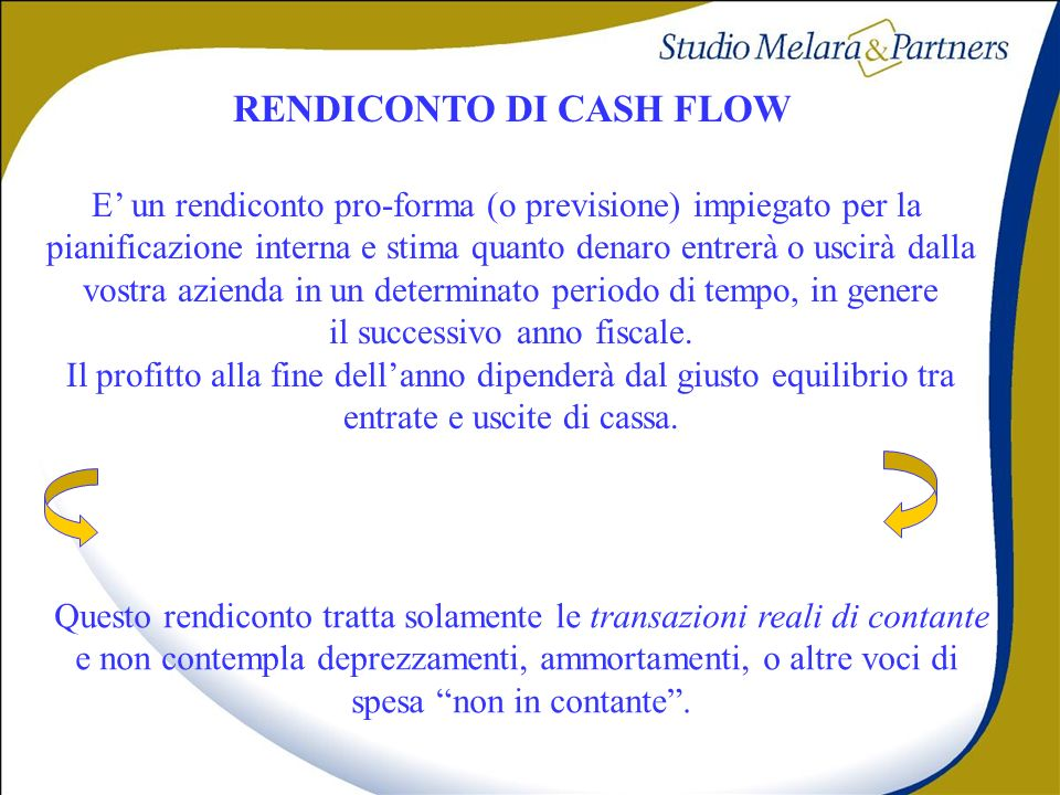 RENDICONTO DI CASH FLOW