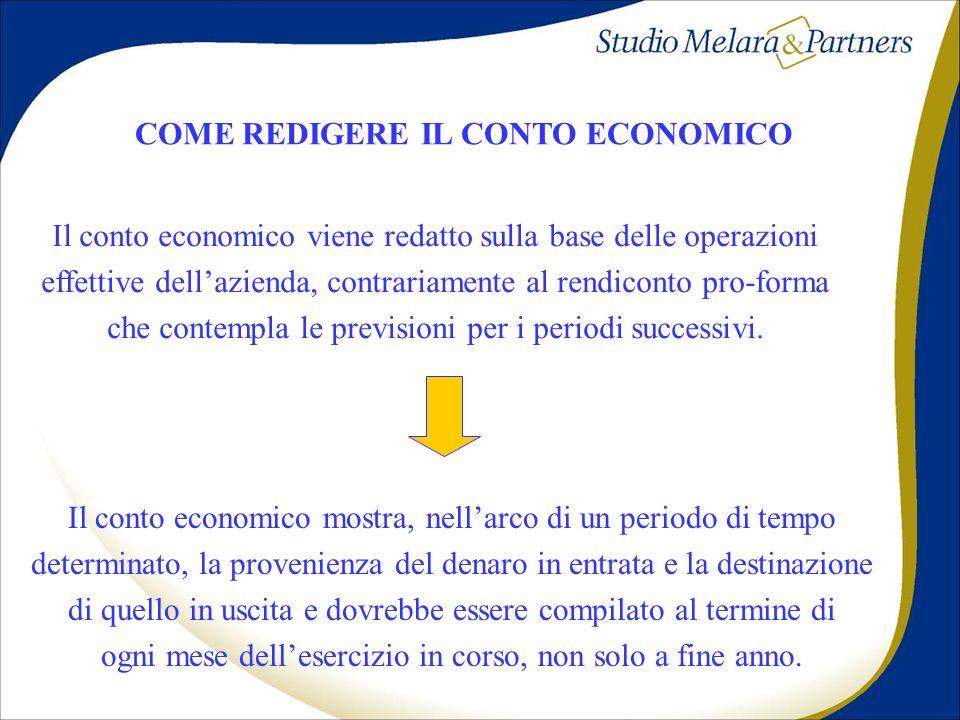 COME REDIGERE IL CONTO ECONOMICO