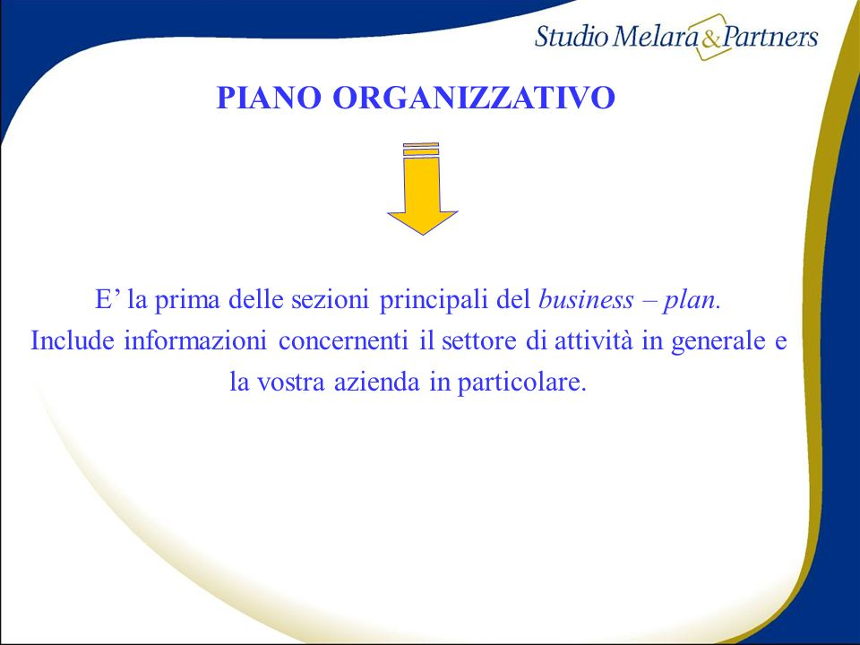 PIANO ORGANIZZATIVO PIANO ORGANIZZATIVO