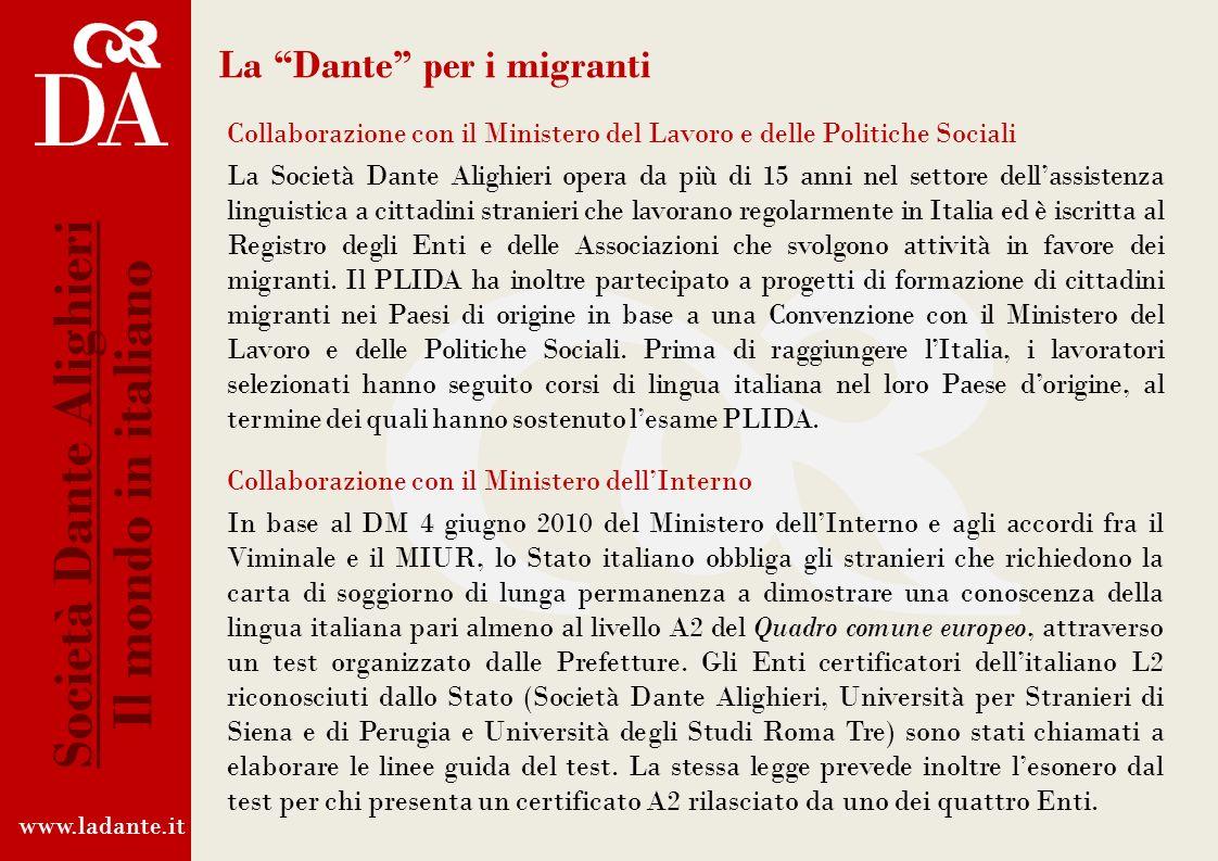 La Dante per i migranti