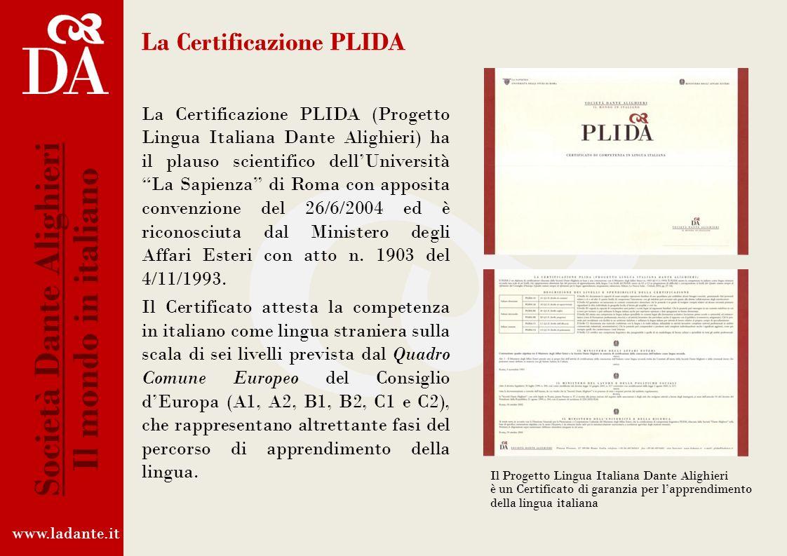 La Certificazione PLIDA