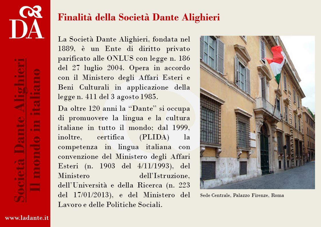 Finalità della Società Dante Alighieri