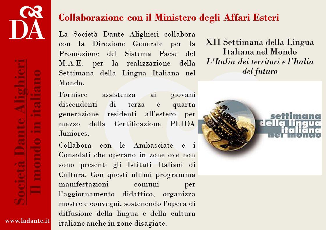 Collaborazione con il Ministero degli Affari Esteri