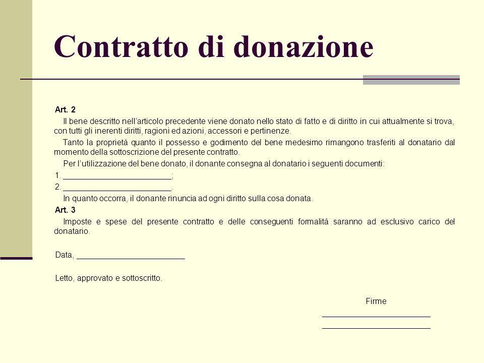 Contratto di donazione