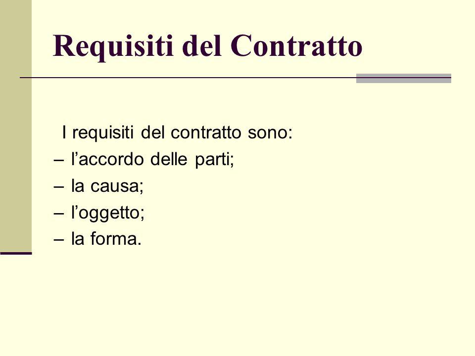 Requisiti del Contratto