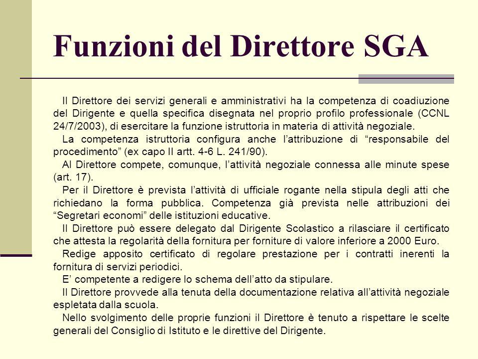 Funzioni del Direttore SGA