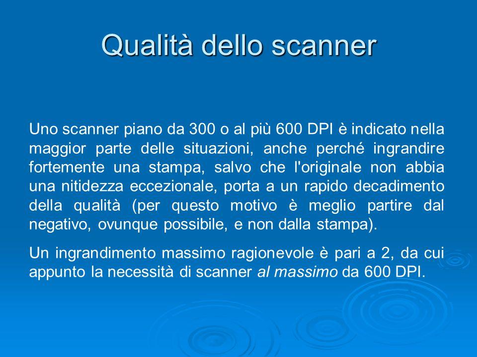 Qualità dello scanner