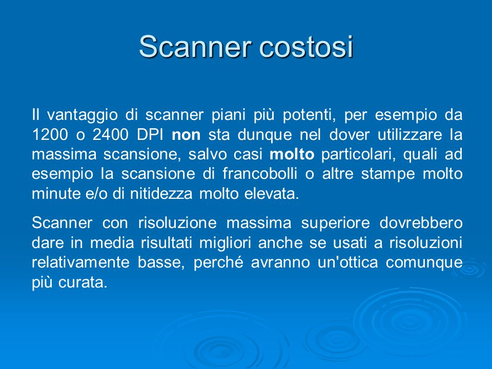 Scanner costosi