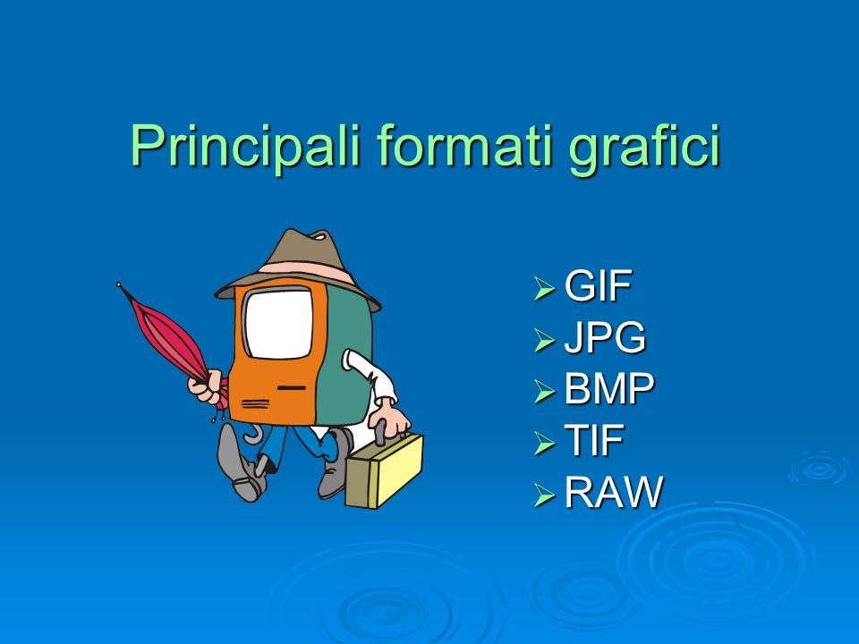 Principali formati grafici