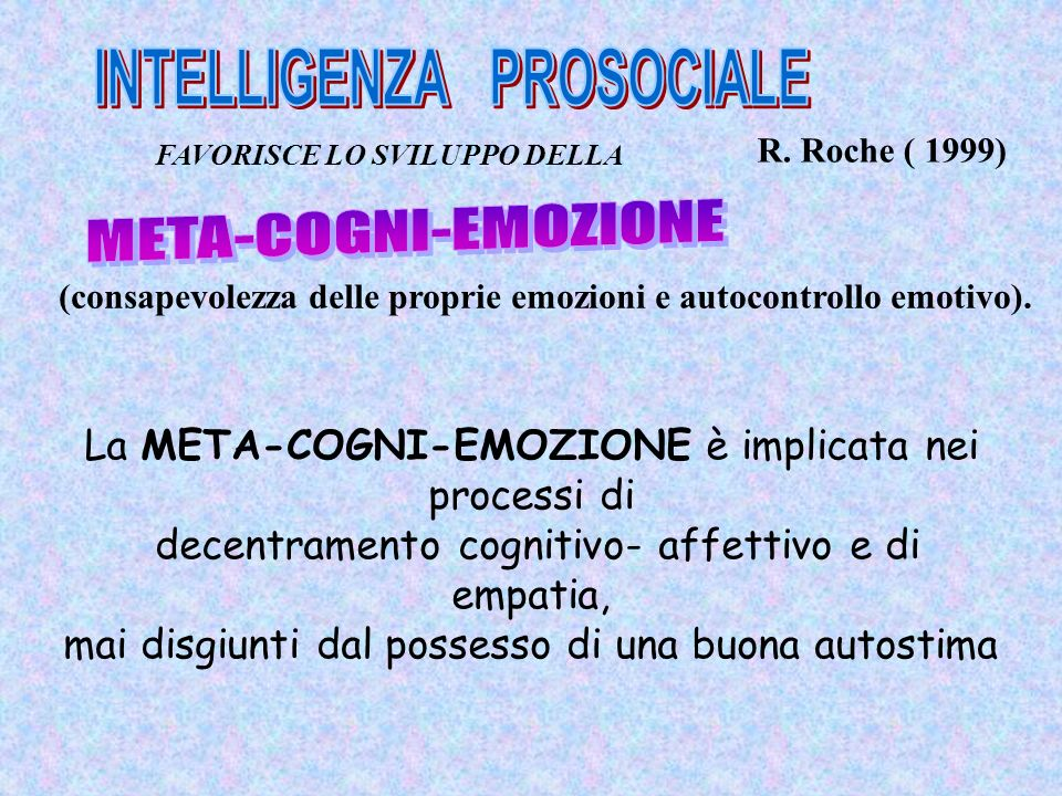 INTELLIGENZA PROSOCIALE