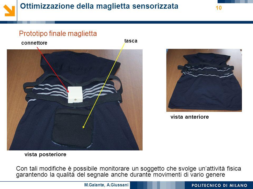 Ottimizzazione della maglietta sensorizzata