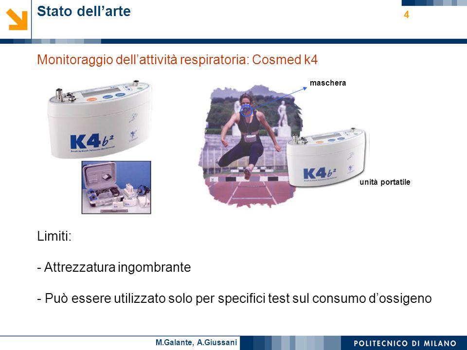 Stato dell'arte Monitoraggio dell'attività respiratoria: Cosmed k4