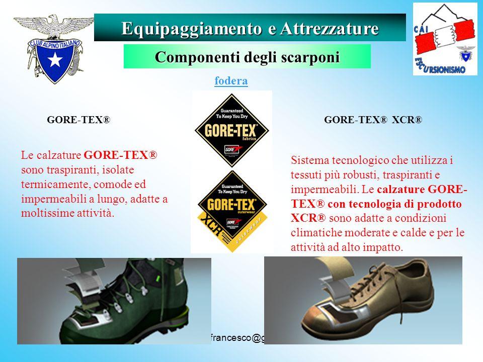 Equipaggiamento e Attrezzature Componenti degli scarponi