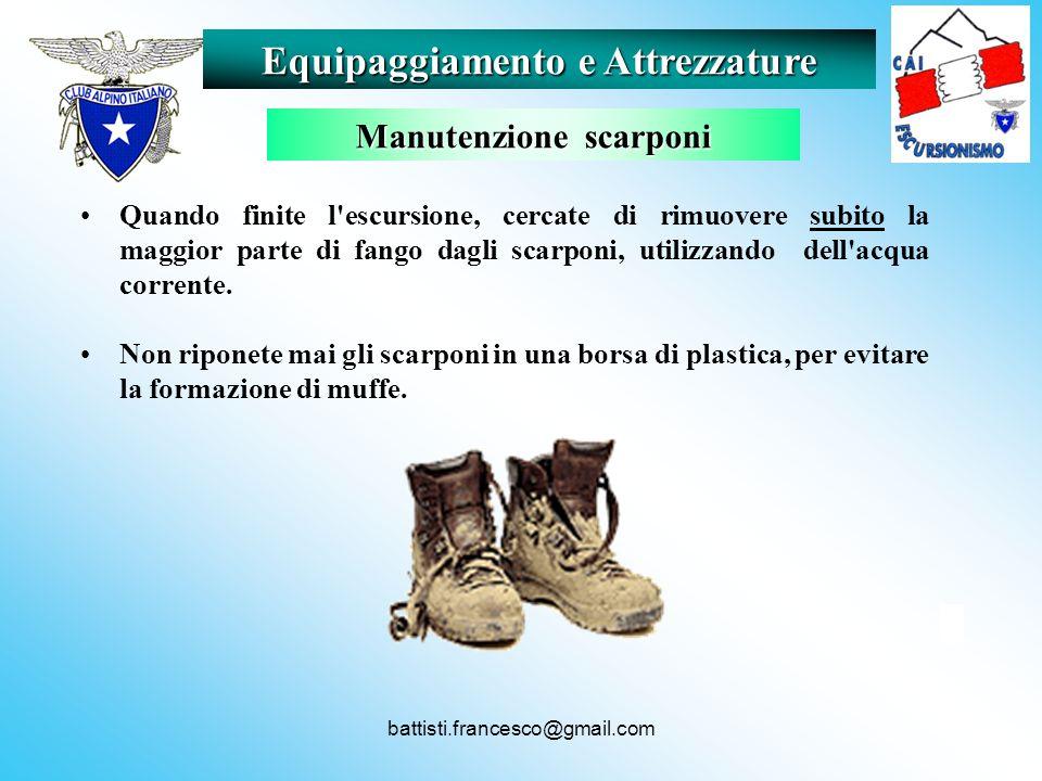 Equipaggiamento e Attrezzature Manutenzione scarponi