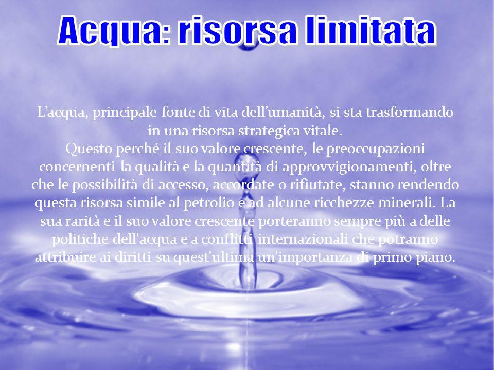 Acqua: risorsa limitata