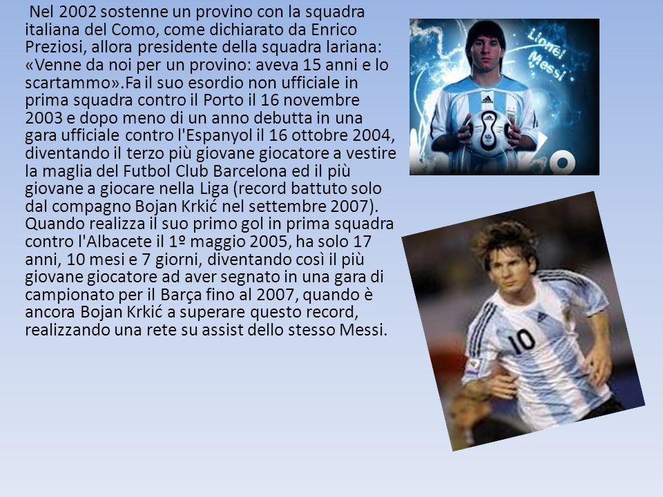 Nel 2002 sostenne un provino con la squadra italiana del Como, come dichiarato da Enrico Preziosi, allora presidente della squadra lariana: «Venne da noi per un provino: aveva 15 anni e lo scartammo».Fa il suo esordio non ufficiale in prima squadra contro il Porto il 16 novembre 2003 e dopo meno di un anno debutta in una gara ufficiale contro l Espanyol il 16 ottobre 2004, diventando il terzo più giovane giocatore a vestire la maglia del Futbol Club Barcelona ed il più giovane a giocare nella Liga (record battuto solo dal compagno Bojan Krkić nel settembre 2007).