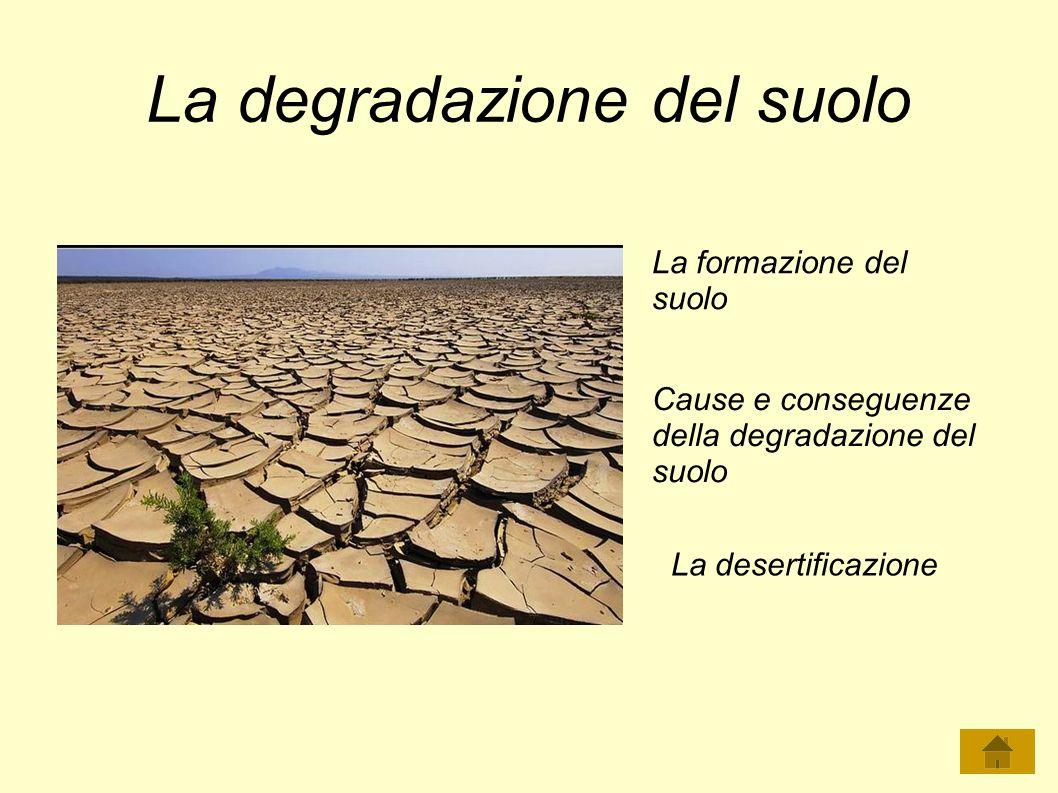 La degradazione del suolo