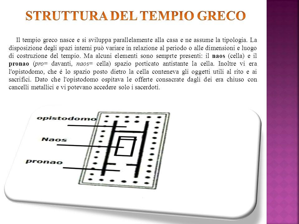 STRUTTURA DEL TEMPIO GRECO