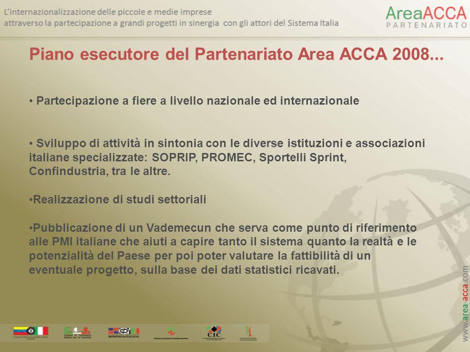 Piano esecutore del Partenariato Area ACCA 2008...