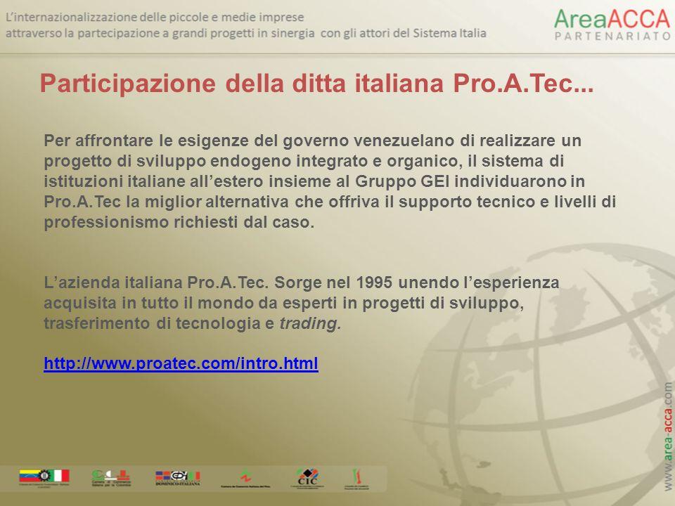 Participazione della ditta italiana Pro.A.Tec...
