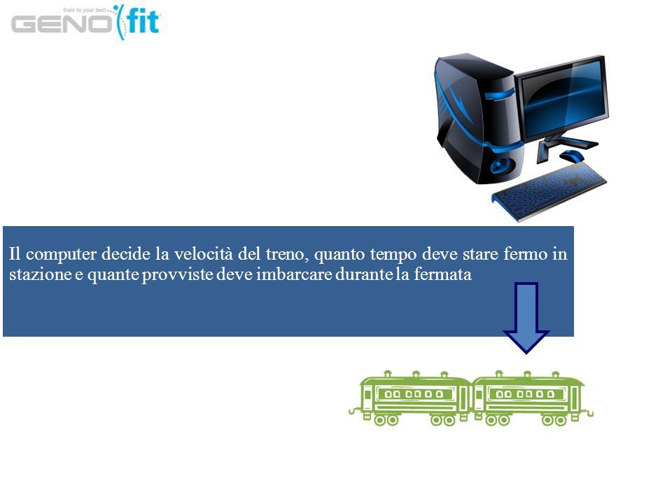 Il computer decide la velocità del treno, quanto tempo deve stare fermo in stazione e quante provviste deve imbarcare durante la fermata