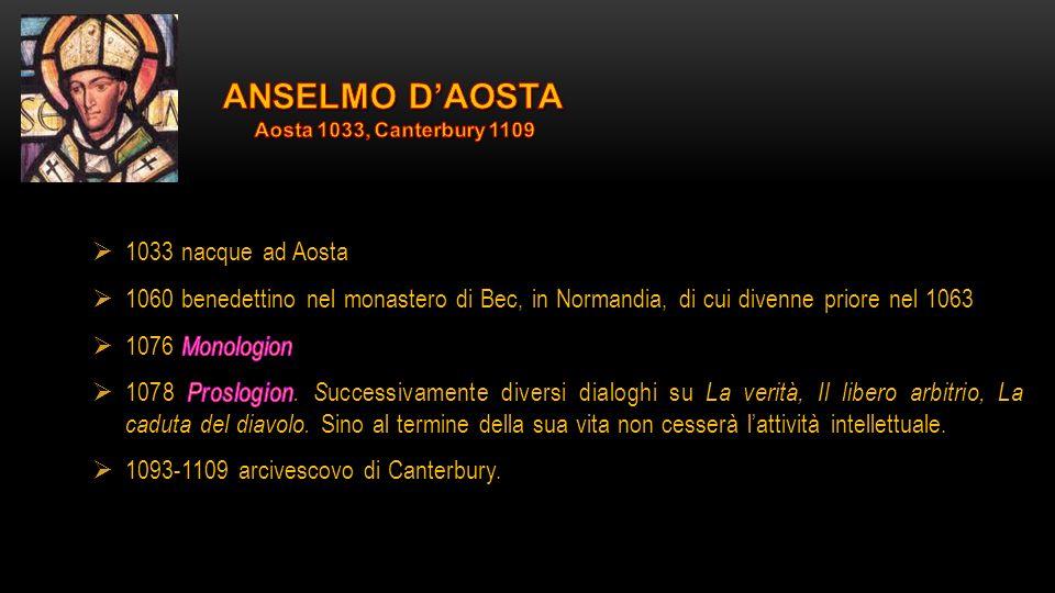 ANSELMO D'AOSTA 1033 nacque ad Aosta