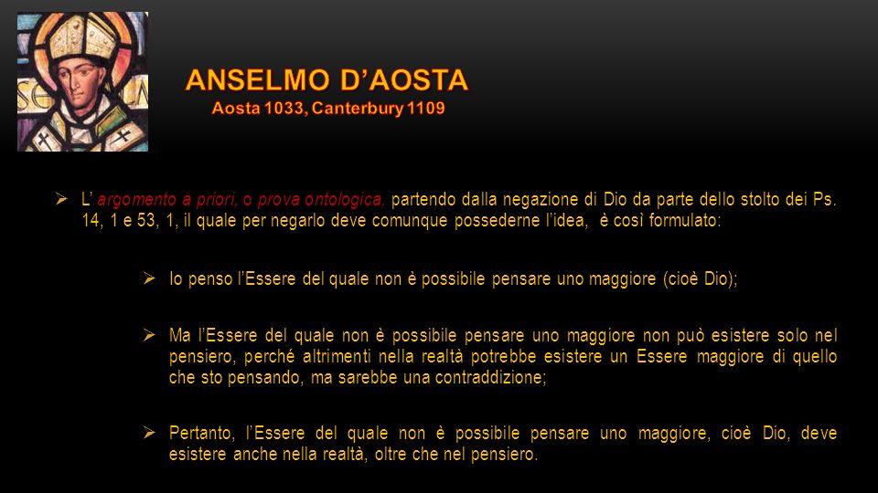 ANSELMO D'AOSTA Aosta 1033, Canterbury 1109.
